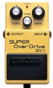 BOSS SD-1 SD1 SUPER OVERDRIVE GUITAR PEDAL- NEW  DEALER