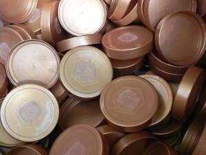 1Stk//0,16€ 50 Ersatz-Deckel f.500g DIB-Gläser,Imkerei,Imker bee,Honig.Honigglas
