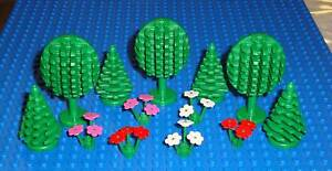 2 Lego Trees Flowers Star Wars Castle City Town Forest