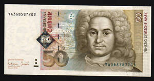 GERMANY-50-MARK-P45-1996-NEUMAN-EURO-REPLACEMENT-CURRENCY-MONEY-BILL-BANK-NOTE