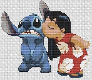 Lilo &amp- Stitch Kiss Counted Cross Stitch Kit TV/Film Characters ...