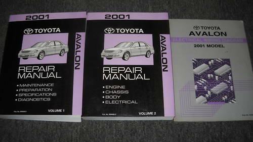 2001 Toyota Avalon Service Repair Shop Workshop Manual Set