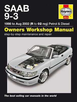 Haynes Manual 4614 Saab 9-3 93 2.0 2.0T 2.3 2.3T Aero SE 2.2TiD Diesel 1998-2002