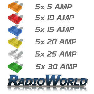 30-X-ATC-Car-Auto-Blade-Fuse-5-10-15-20-25-30-AMP-MIXED