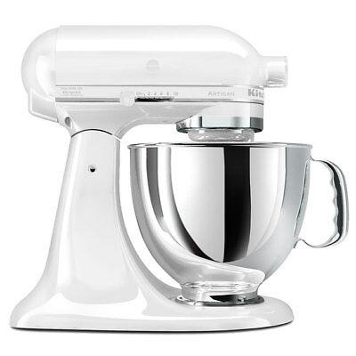 KitchenAid Stand Mixer tilt 5 Quart RRK150wh Artisan Tilt White