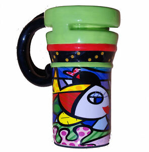 Ceramic-Travel-Mug-fish-by-ROMERO-BRITTO-Must-Buy-Sale