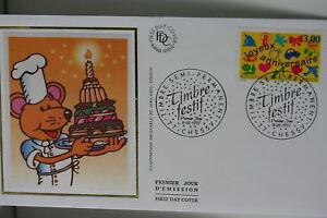 ENVELOPPE PREMIER JOUR SOIE 1997 TIMBRE FESTIF