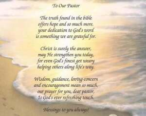 To Our Pastor Rev Minister Personalized Poem