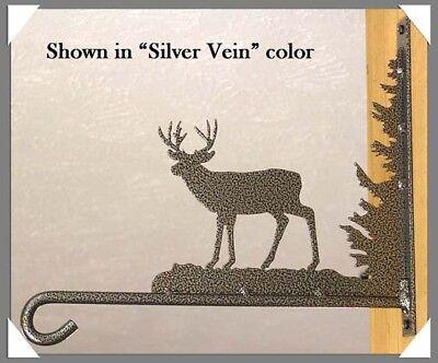 Deer Plant Hanger Hook Rustic Lodge Hunting Cabin Metal Art Wall Decor