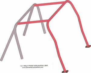Front-Roll-Bar-Kit-Jeep-CJ5-CJ7-MB-AMC-Willy-Roll-Cage