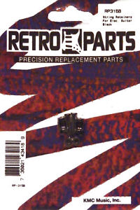 RETRO PARTS 2PK BLACK STRING RETAINERS ELECTRIC GUITAR