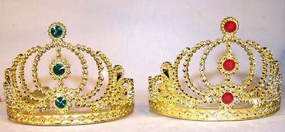 2 GOLD CROWN TIARA costume party favors golden crowns girls