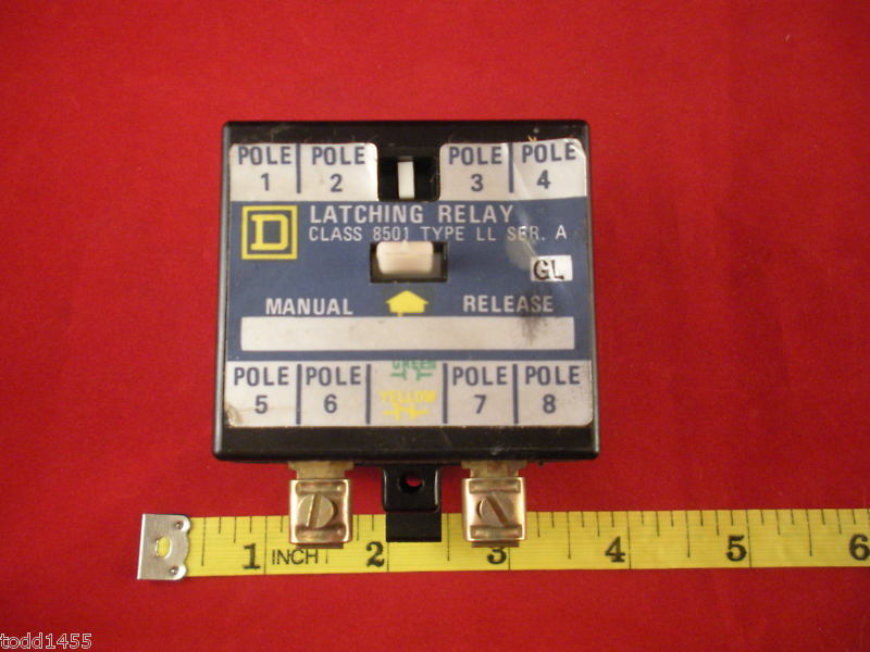 Square D 8501LL Latching Relay 8501 Series A LL GL 8 Pole Mchanical Nnb