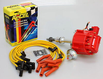 FORD 289 302 HEI DISTRIBUTOR & ACCEL WIRES 6502-R-KIT