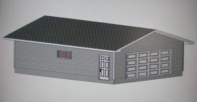 24 39 x 30 39 garage shop plans materials list blueprints ebay for Garage plans 24 x 30
