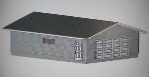24 39 x 30 39 garage shop plans materials list blueprints ebay for Garage material list