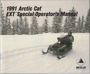 1991 ARCTIC CAT SNOWMOBILE EXT SPECIAL OPERATOR  MANUAL