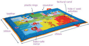 Taf Toys Touch Mat - Baby Activity Playmat - Soft Mat
