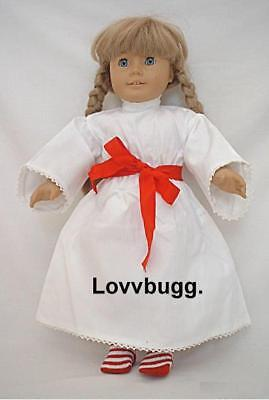 "Lovvbugg ST LUCIA GOWN w Socks for 18"" American Girl Kirsten Doll Clothes"