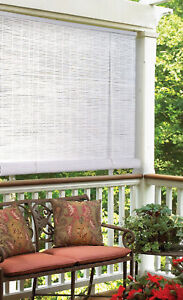INDOOR-OUTDOOR-WHITE-OVAL-PVC-ROLLUP-WINDOW-SHADE-BLIND