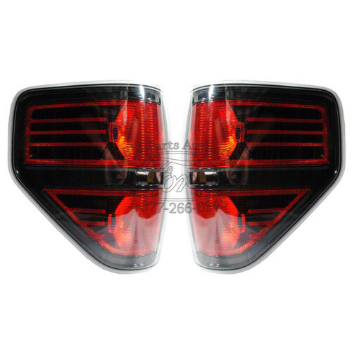 2014 Ford F-150 Svt Raptor Black Tail Light Lamps Pair - Harley Fx4 Xlt on Sale