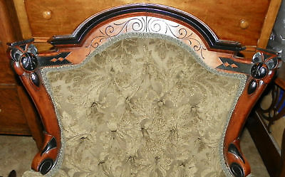 Herter-Carved-Walnut-Parlor-Chair-Armchair-AC89