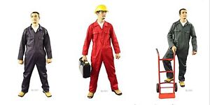NEW-Good-Quality-Polycotton-Boilersuit-Overalls-Coverall-Choice-Colour-amp-Size