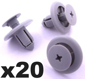 Passaruota 20x 8mm Paraurti Pannello Trim Boot Trim Clip