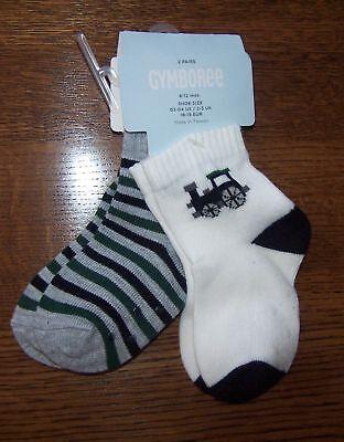 Gymboree Holiday Train Striped 2 Pr Socks 3-6 Mo