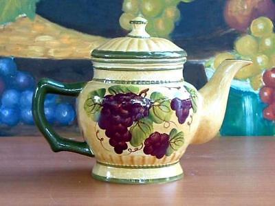 Tuscany Grape Tea Pot Kitchen Wine Tuscan Decor Ebay