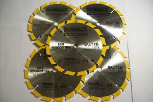 5-DEWALT-5-3-8-CARBIDE-CORDLESS-CIRCULAR-SAW-BLADES-16T