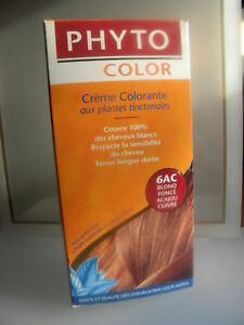 image is loading phyto color creme colorante 6ac blond fonce acajou - Creme Colorante