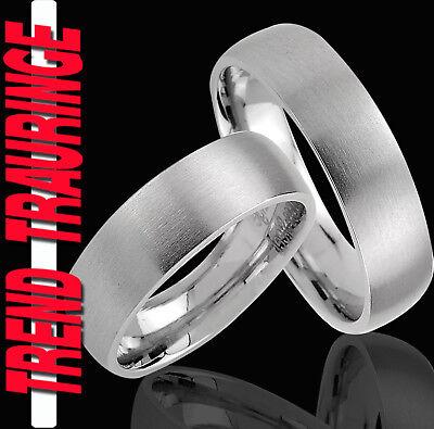 2 Ringe Eheringe Trauringe Partnerringe & Gratis GRAVUR , komplett Matt * TE11
