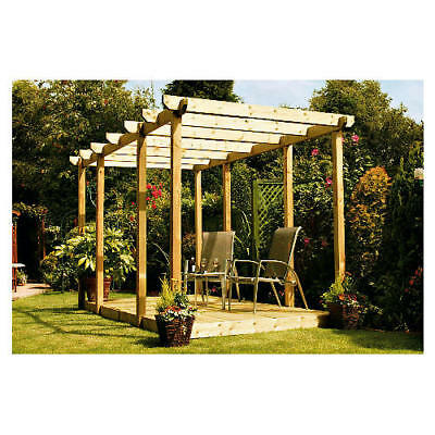 4.2M X 3M  NEW WOODEN PERGOLA  BARGAIN PRICE £280