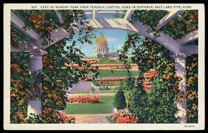 CP-USA-SALT-LAKE-CITY-UTAH-CAPITOL-DOME-PARK-PERGOLA