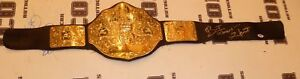 Bret-The-Hitman-Hart-Signed-WWE-WWF-Championship-Toy-Belt-PSA-DNA-COA-Autograph