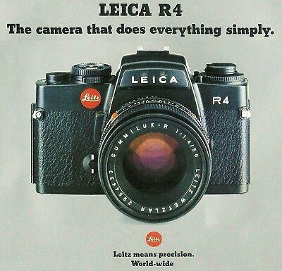 Инструкции и руководства 1981 LEICA R4