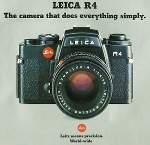 1981 LEICA R4 35mm SLR CAMERA BROCHURE--R4--from 1981