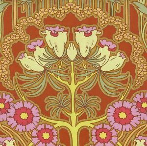 AMY BUTLER Clay SOUL BLOSSOMS Fuchsia Tree Fabric FQ QUILT Funky ART NOUVEAU