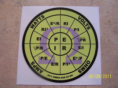 OHMS law sticker decal PEIR wheel Omega