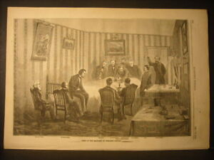 Abraham-Lincoln-Assassination-Death-Bed-Engraving-1865
