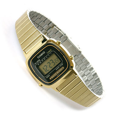 Urban Outfitters Ladies Gold Casio Watch Uk Stock