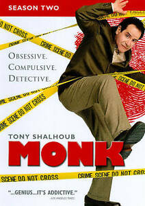 Monk-Season-2-DVD-2010-4-Disc-Set-DVD-2010