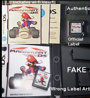 Spotting Fake Mario Kart DS game