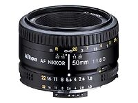 Nikon Standard Camera Lenses 50mm Focal