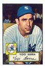 1952 Topps Yogi Berra New York Yankees #191 Baseball Card