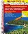MARCO POLO Reiseatlas Slowenien, Kroatien, Bosnien und Herzegowina 1:300 000 (2016, Ringbuch)