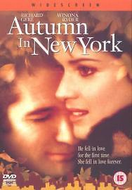 Autumn In New York [2001], New DVD, Richard Gere, Winona Ryder, Anthony LaPaglia
