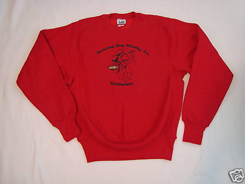 New Mens Red Dancing Dog Lee Sweatshirt S Small Cotton