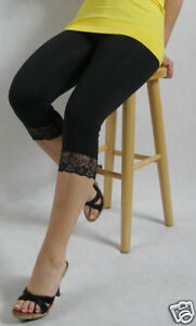 Black-Premium-CottonLeggings-with-Lace-3-4-Length-All-Size-Variations